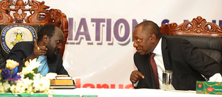 Deputy President Cyril Ramaphosa at the 1st Extra-Ordinary Convention of the Sudan People's Liberation Movement, 7 Jan 2015