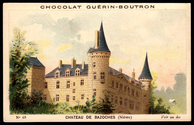 French Tradecard - Chateau de Bazoches