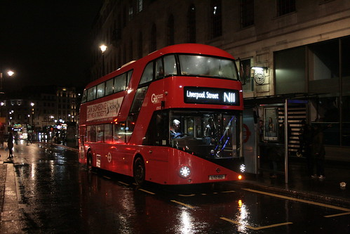 London General LT512 on Route N11, Charing Cross Station