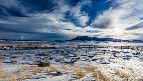 sunset clouds landscape wyoming elkmountain
