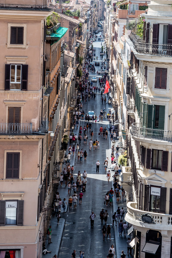 Taken from the top of the Spanish Steps