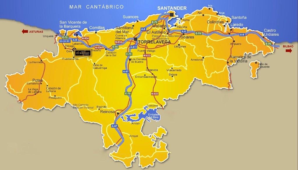 Mapa cueva El Soplao