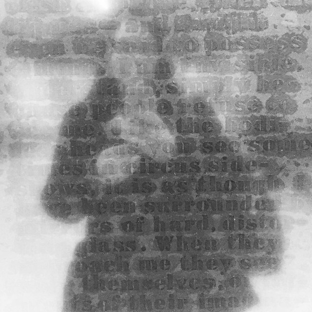 """""""I'm invisible, understand, simply because people refuse to see me..."""" Glenn Ligon Inv#0201"""