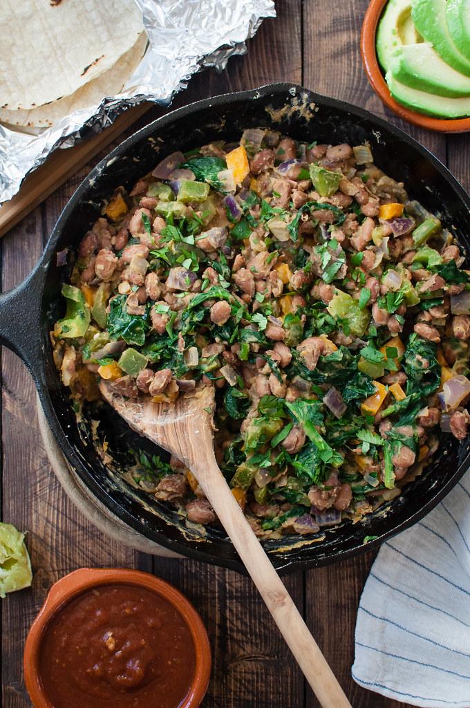 Pinto bean breakfast taco filling