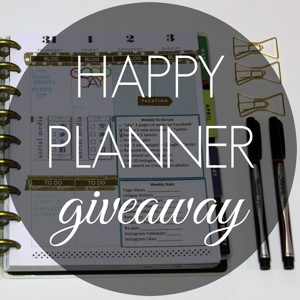 Happy Planner Giveaway 1