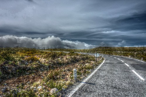 Madeira - the road on the plateau