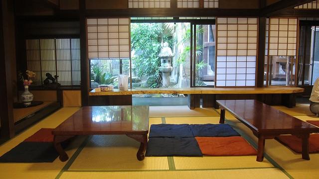 持ち寄りスイーツ交流会、会場の京町家「さいりん館」