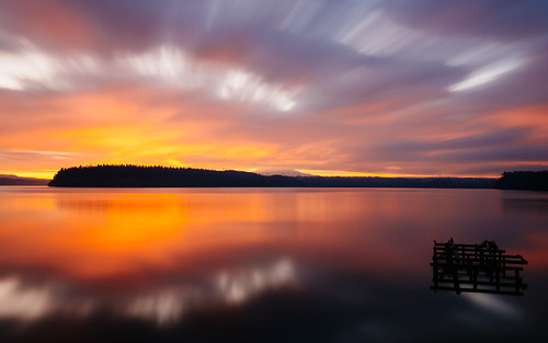 sunrise longexposure gigharbor clouds colorful water reflection pacificnorthwest canoneos5dmarkiii canonef1635mmf4lis bwnd1000x mtrainier johnwestrock washington