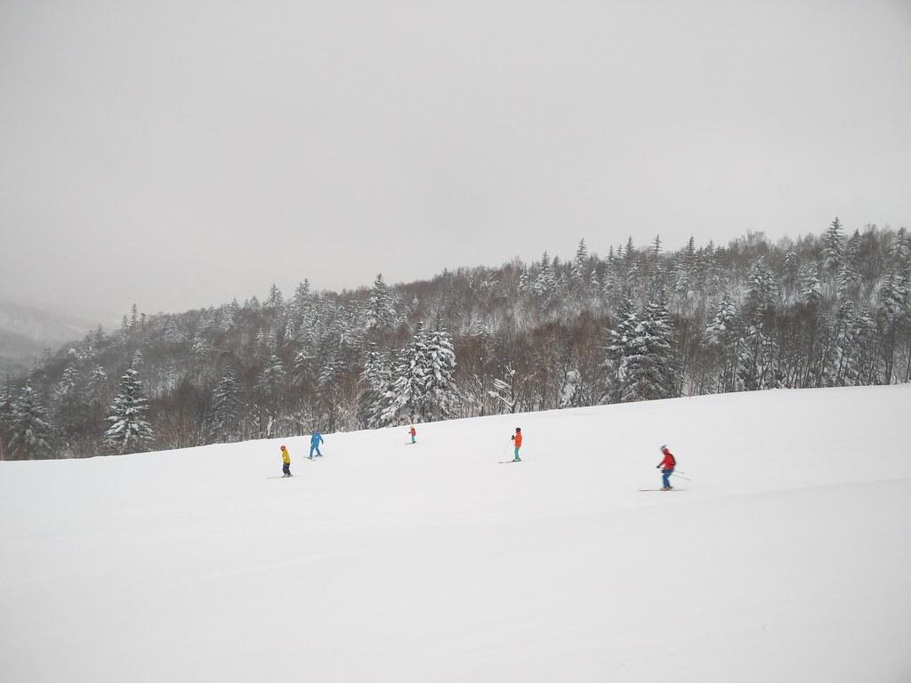 Skiers at Nagamine