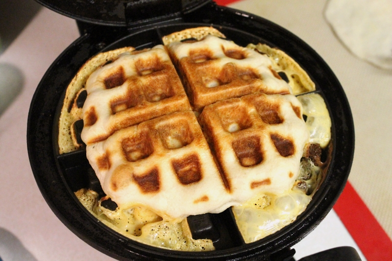 Waffle-wiches - don't use Kraft singles!