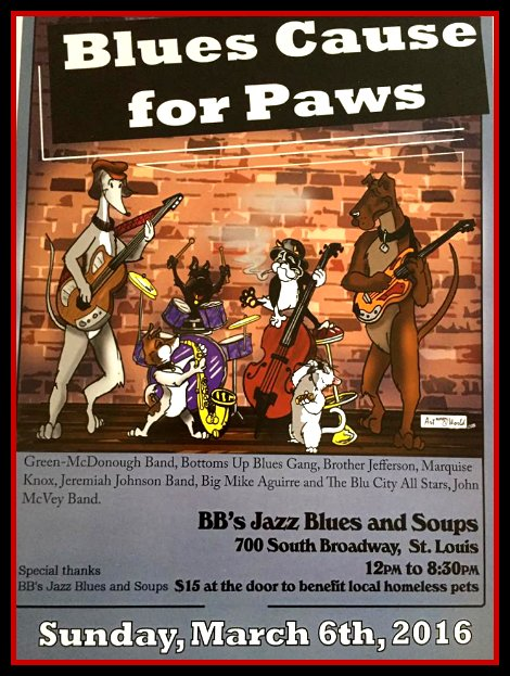 Blues Cause For Paws 3-6-16