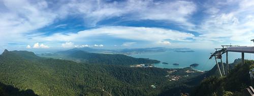 Ausblick vom Gipfel des Berges