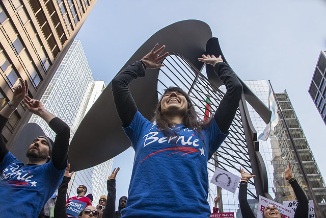 Chicago March for Bernie Sanders: February 27 2016