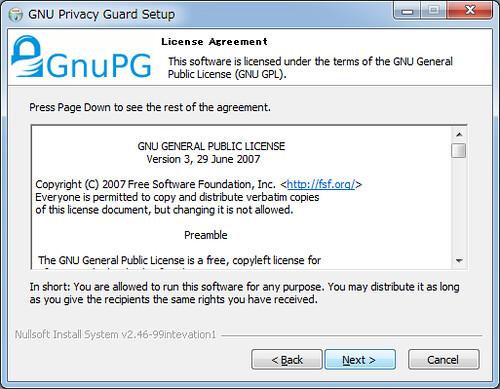 Installing GnuPG for Windows (2)