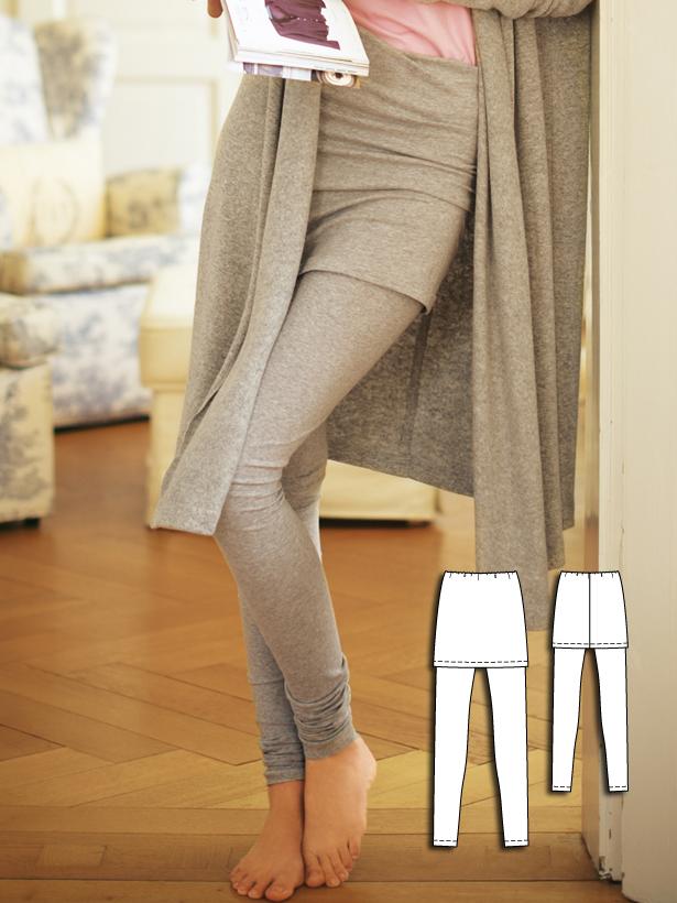 130A 012011 leggings with skirt