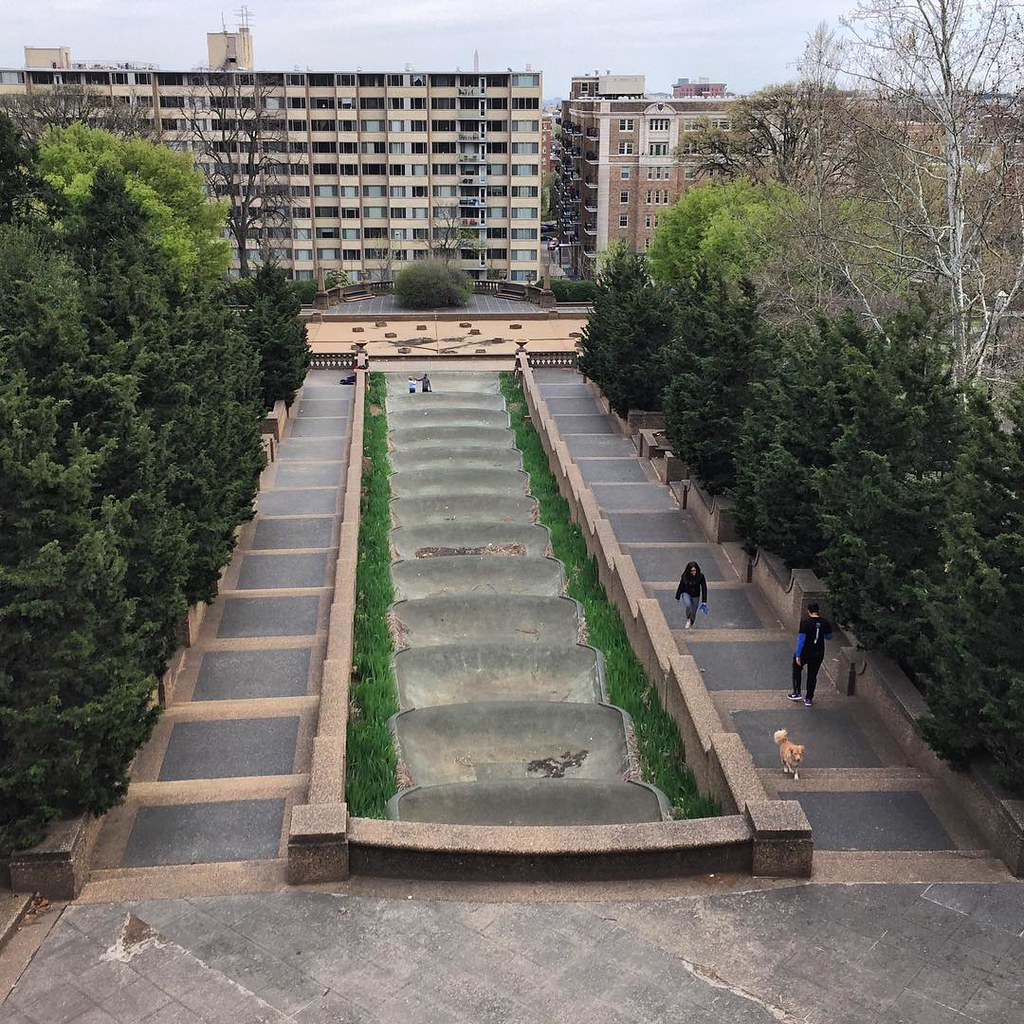 Meridian Hill Park - looking good with spring colors! #walkdc #igdc