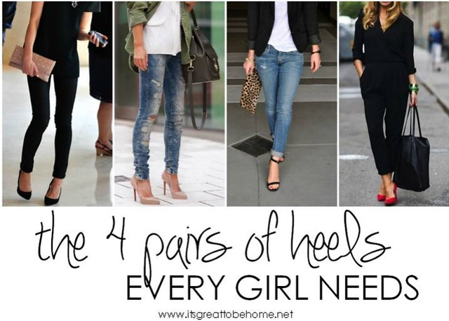 the 4 pairs of heels every girl needs - It's Great to Be Home