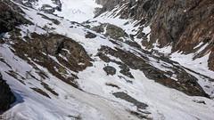 Grupa zjeżdża lodowcem lodowcem l