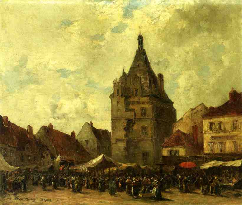 Market Day, Dreux by Frank Myers Boggs