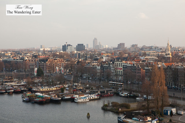 View of Amsterdam at sunset