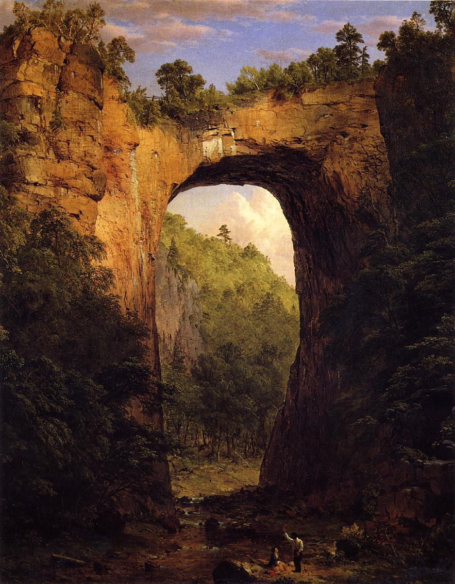 The Natural Bridge, Virginia by Frederic Edwin Church, 1852