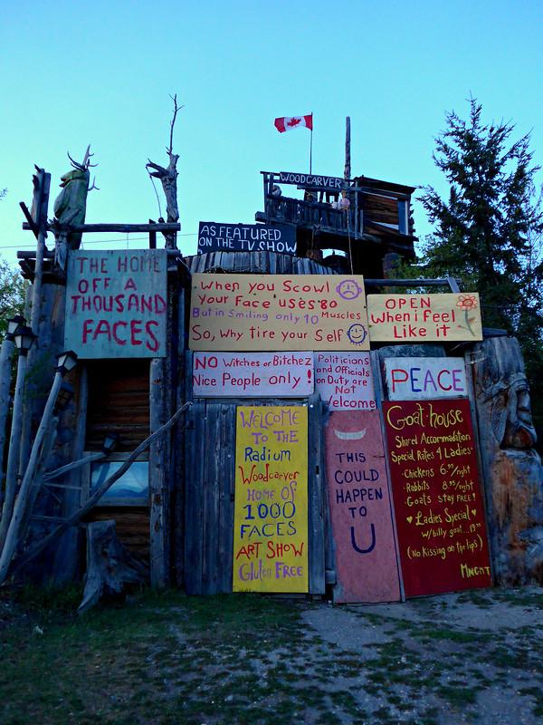 Home of 1000 Faces, Radium Hot Springs, BC