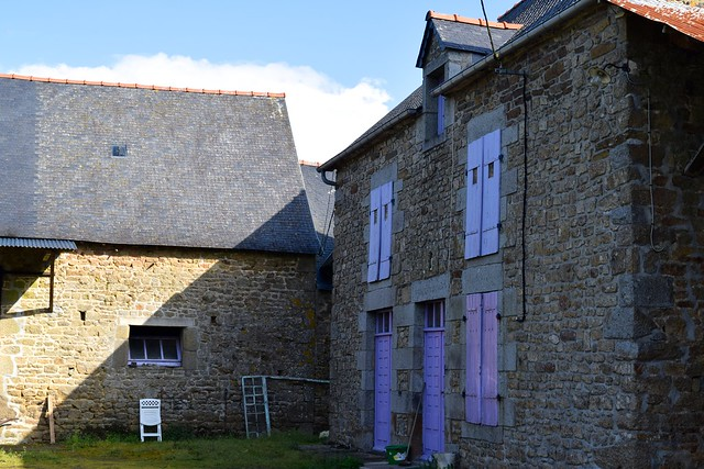 Purple Painted Brittany Stone House, France | www.rachelphipps.com @rachelphipps