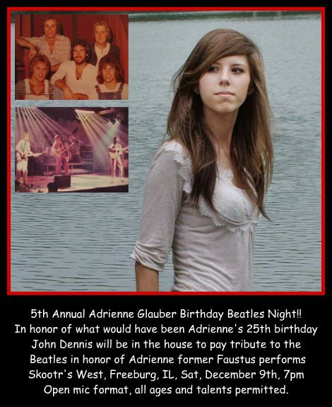 Adrienne Glauber Birthday Beatles Night 1-9-16