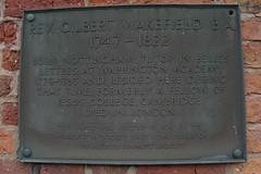 Photo of Gilbert Wakefield bronze plaque