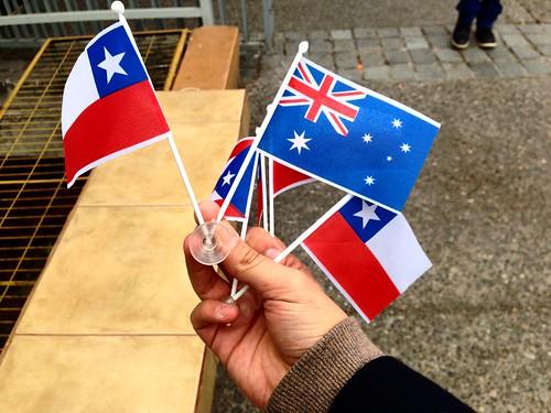 Banderitas: Chile, Australia (Sept 2015)