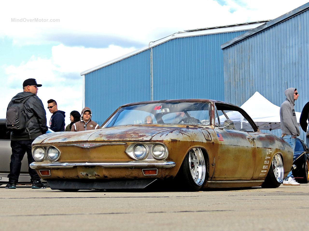 Slammed Chevrolet Corvair at First Class Fitment 1