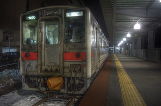 Wakkanai Station in early morning on DEC 23, 2015 (6)