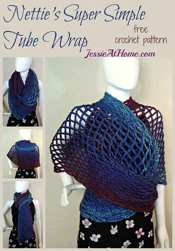 Nettie's Super Simple Tube Wrap - free crochet pattern by Jessie At Home