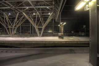 Asahikawa Station in evening on JAN 10, 2016 (4)