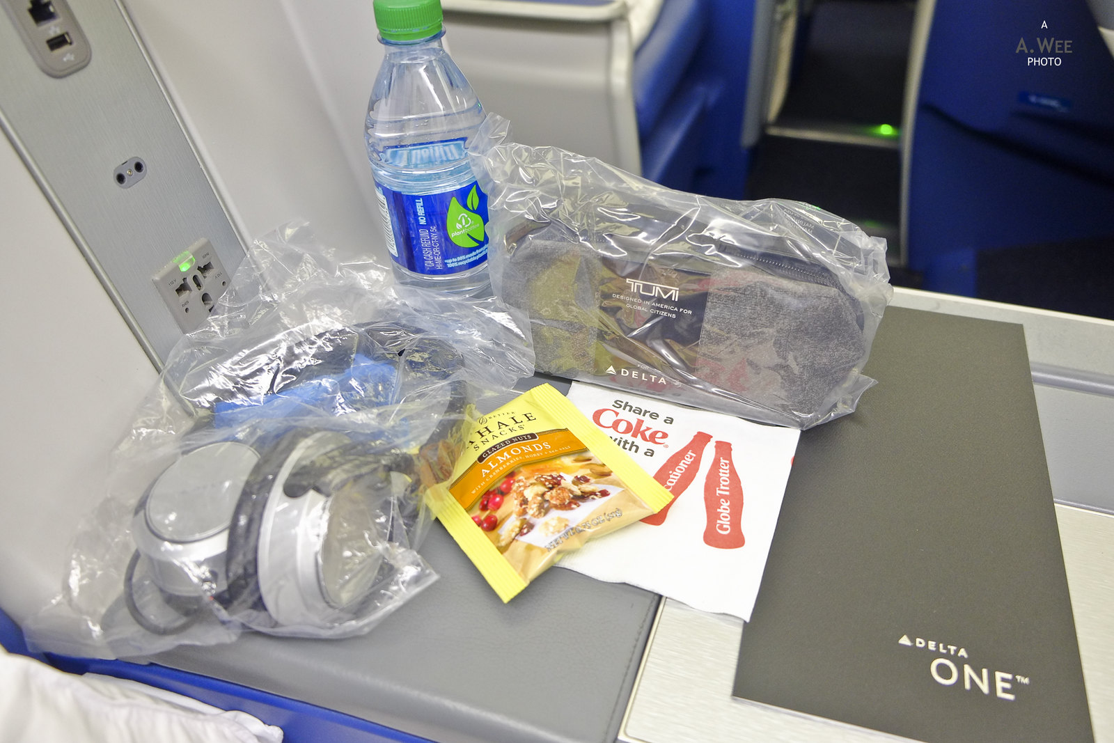 Amenities on the seat