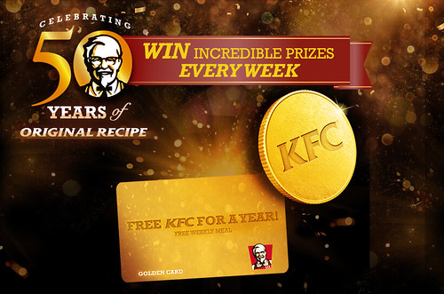 KFC gold coin ad