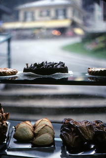 Pastries in a Rainy Shop Window, Leysin, 1980
