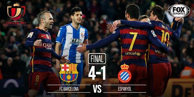 Copa del Rey - Octavos de Final (Ida): FC Barcelona 4 - RCD Espanyol 1