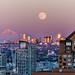 Moon over Vancouver by MB aus D