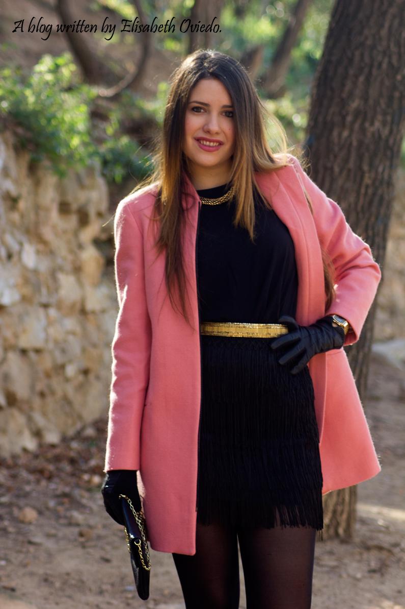 abrigo rosa ZARA falda bershka botines MARYPAZ HEELSANDROSES (1)