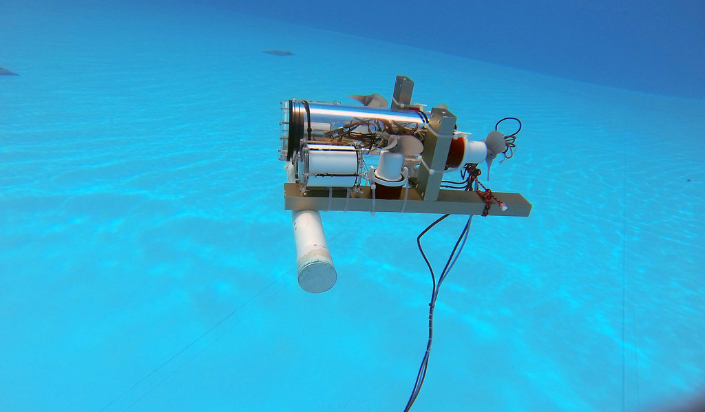 An ROV with bilge-pump thrusters and a 4