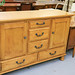 Large hardwood stained sideboard