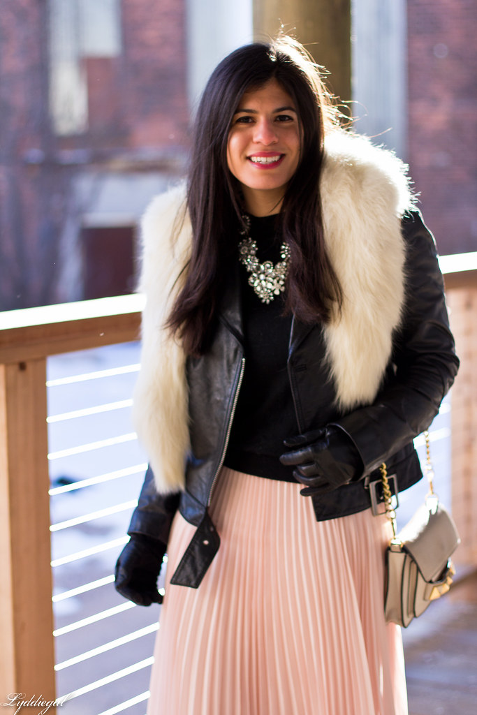 blush pleated maxi skirt, leather moto jacket, fur collar-6.jpg