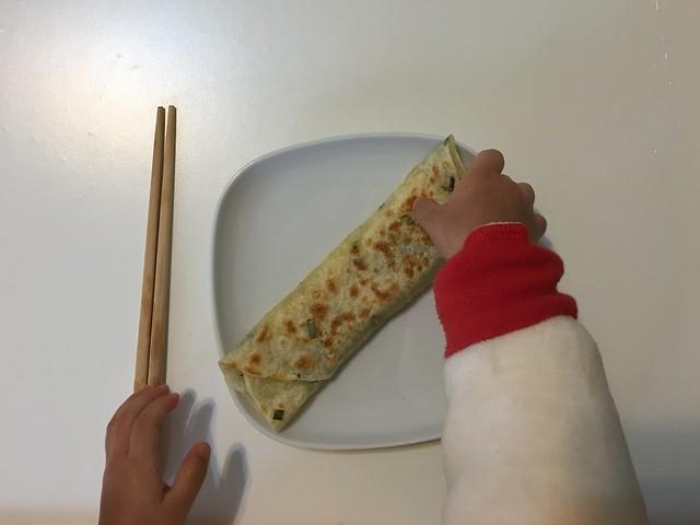 早餐:起司菠菜捲餅