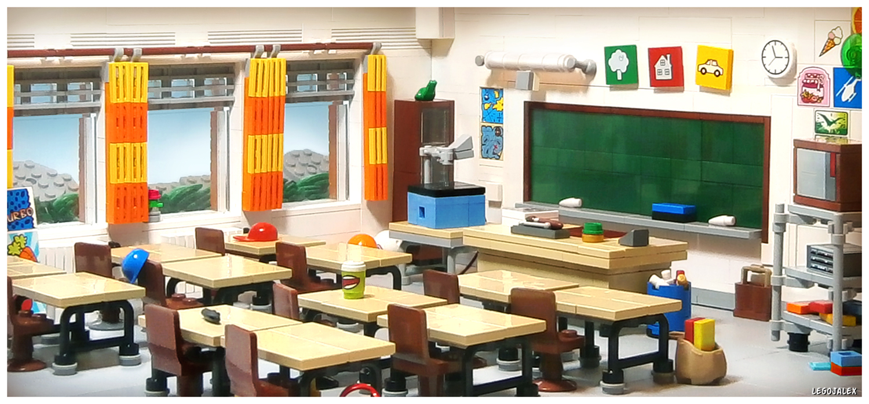 Modular Classroom Jobs ~ Brilliant detailed lego classroom