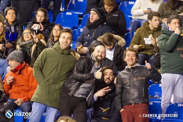 La afición en el Dépor- Málaga