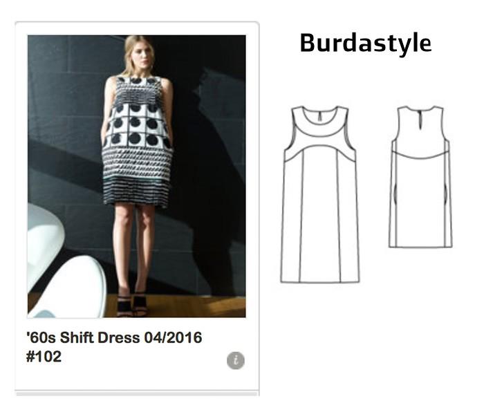 Burda mod style dress