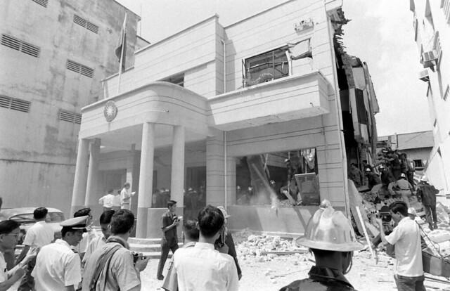 SAIGON 1967 - Bombing Republic Of China's Embassy (1) - Vụ đánh bom Tòa Đại sứ Trung Hoa Dân Quốc (Đài Loan) tại số 47 Pasteur ngày 19-9-1967