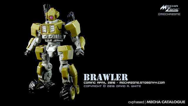 "Mecha Zone - ""Brawler"" 6-Inch 3D Printed Figure"