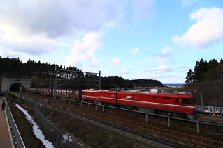 EH800 が牽引する貨物列車